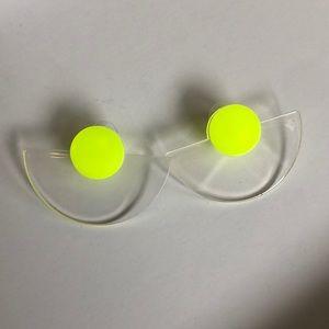 Clear/ neon acrylic earrings